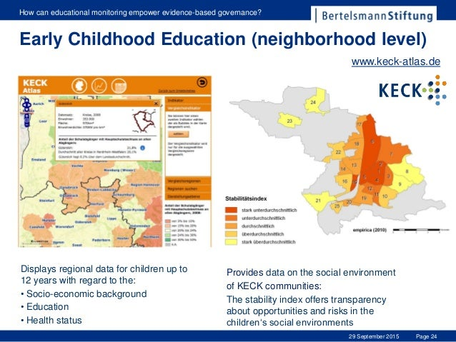 Page 24 How can educational monitoring empower evidence-based governance? 29 September 2015 Displays regional data for chi...
