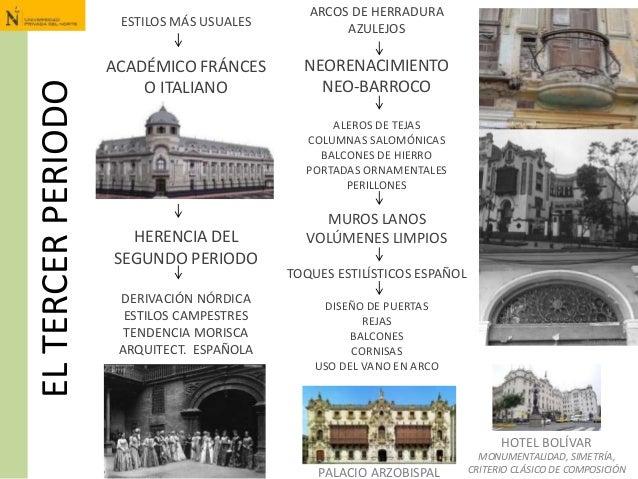 ELTERCERPERIODO ESTILOS MÁS USUALES ACADÉMICO FRÁNCES O ITALIANO HERENCIA DEL SEGUNDO PERIODO DERIVACIÓN NÓRDICA ESTILOS C...