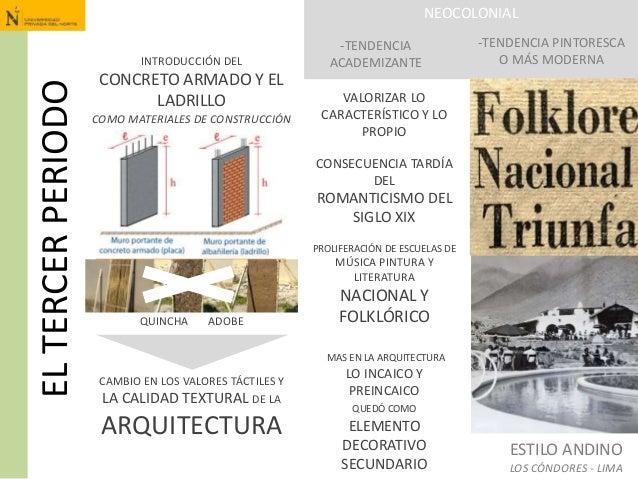 ELTERCERPERIODO INTRODUCCIÓN DEL CONCRETO ARMADO Y EL LADRILLO COMO MATERIALES DE CONSTRUCCIÓN NEOCOLONIAL -TENDENCIA ACAD...
