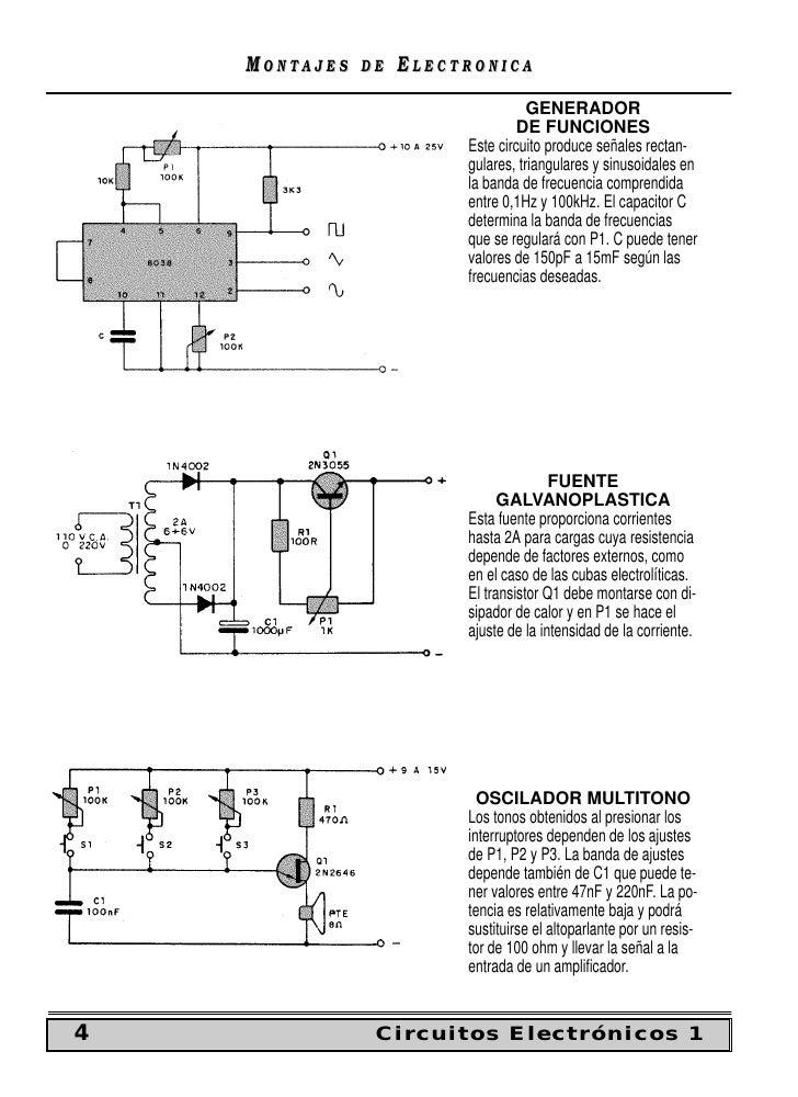 Circuito Generador De Funciones : Circuitos elatronicos variados