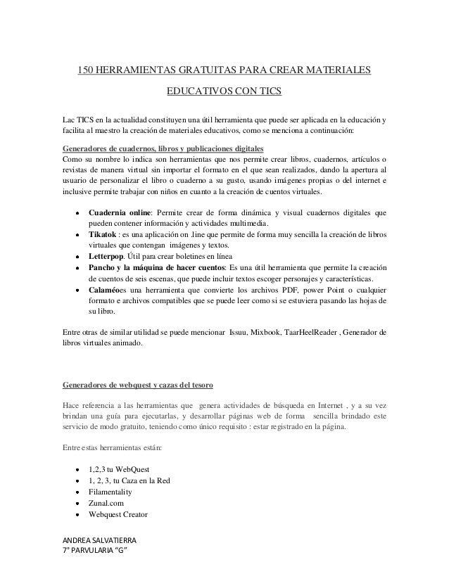 150 HERRAMIENTAS GRATUITAS PARA CREAR MATERIALES                                  EDUCATIVOS CON TICSLac TICS en la actual...