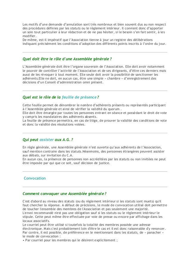 150 Questions Deroulement Ag Association 2