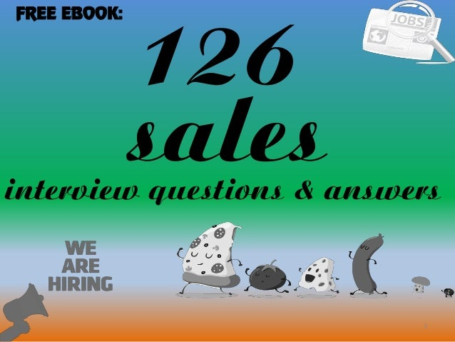 126 1 salesinterview questions & answers FREE EBOOK: