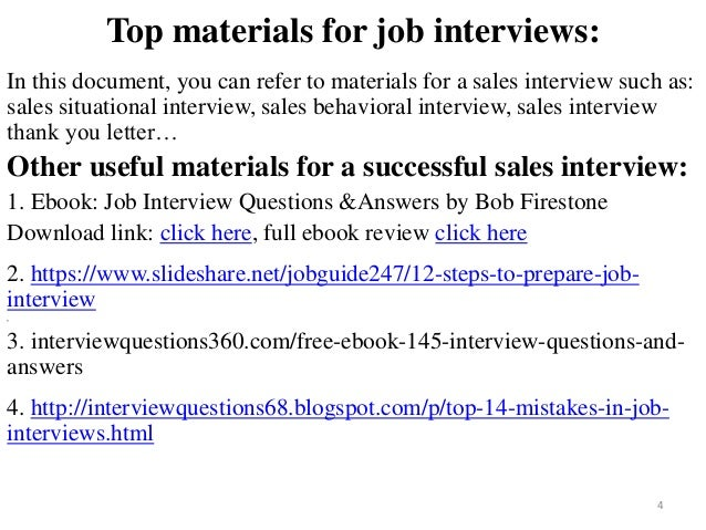 Top 66 sales interview questions and answers pdf