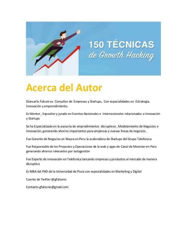 Acerca del Autor Giancarlo Falconi es Consultor de Empresas y Startups, Con especialidades en Estrategia, Innovación y emp...