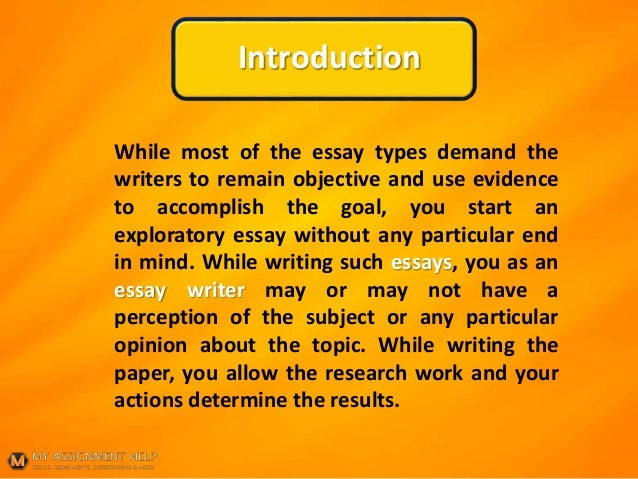 exploratory essay sample pdf