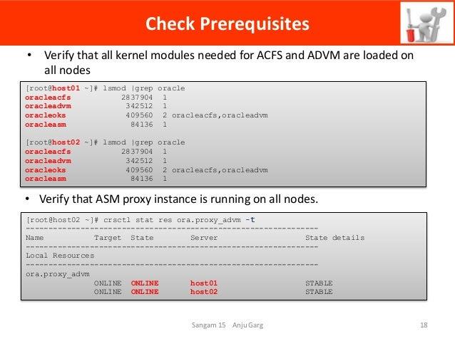 Oracle ACFS High Availability NFS Services (HANFS)