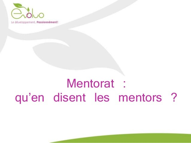 Mentorat : qu'en disent les mentors ?