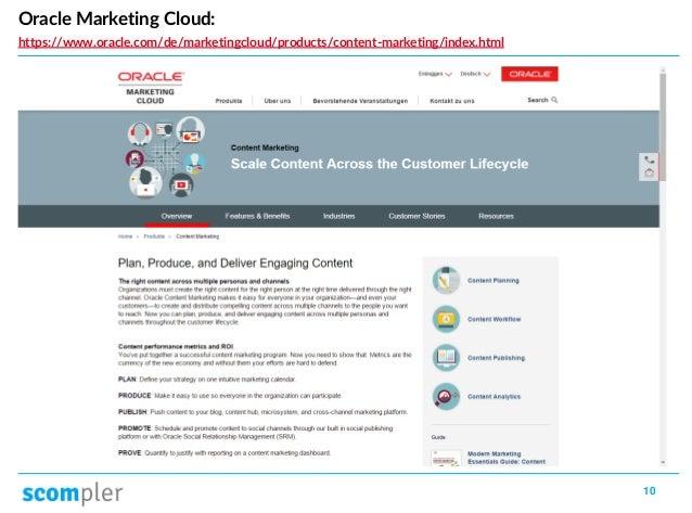 10 Oracle Marketing Cloud: https://www.oracle.com/de/marketingcloud/products/content-marketing/index.html