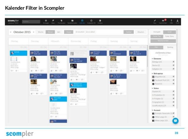 39 Kalender Filter in Scompler