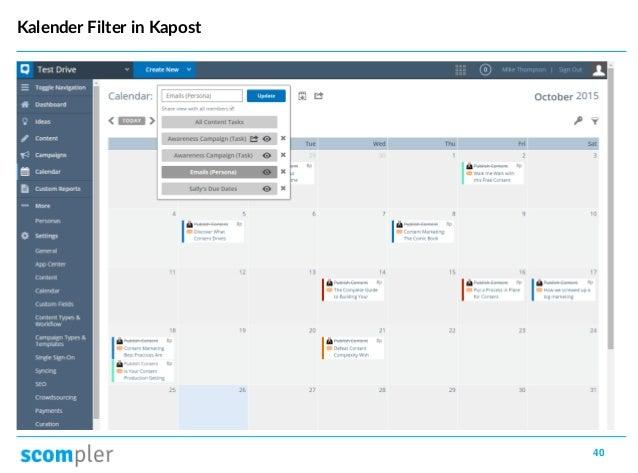 40 Kalender Filter in Kapost