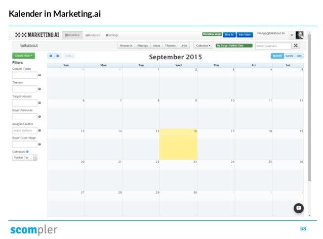 58 Kalender in Marketing.ai