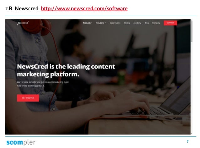7 z.B. Newscred: http://www.newscred.com/software