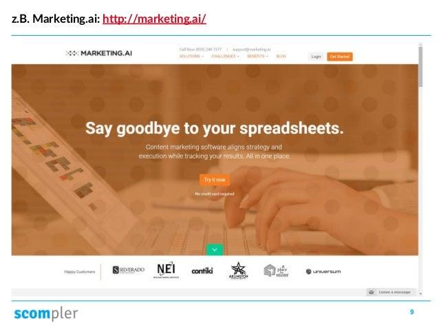 9 z.B. Marketing.ai: http://marketing.ai/