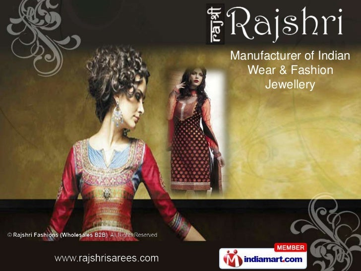 Manufacturer of Indian  Wear & Fashion     Jewellery