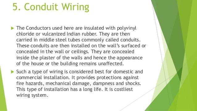 types of wiring rh slideshare net Flexible Electrical Conduit Electrical Conduit Fittings