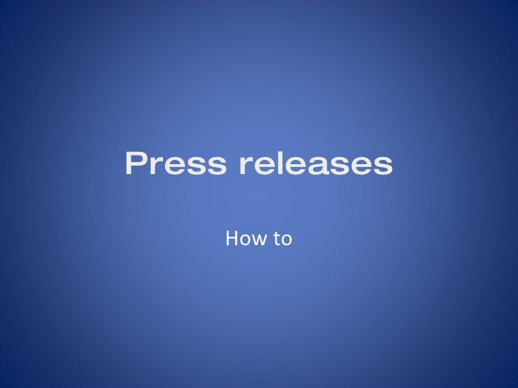 Press releases How to promote your FIRST Team
