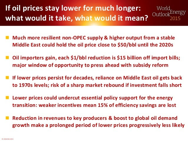 © OECD/IEA 2015 If oil prices stay lower for much longer: what would it take, what would it mean?  Much more resilient no...
