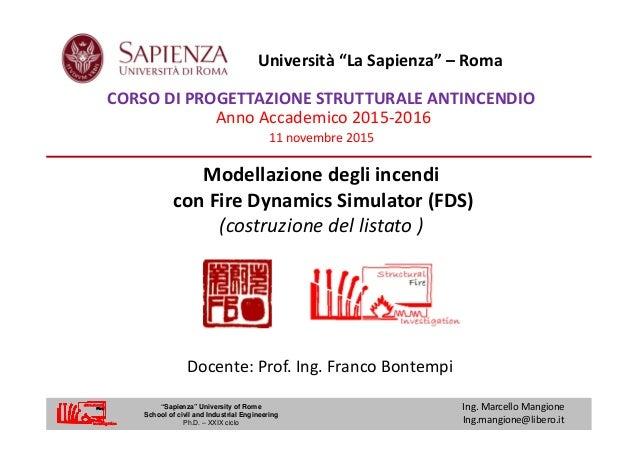 Modellazione degli incendi con Fire Dynamics Simulator (FDS