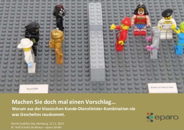 Seite © eparo GmbH, 2011© eparo GmbH, 2013© Machen Sie doch mal einen Vorschlag… Warum aus der klassischen Kunde-Dienstlei...