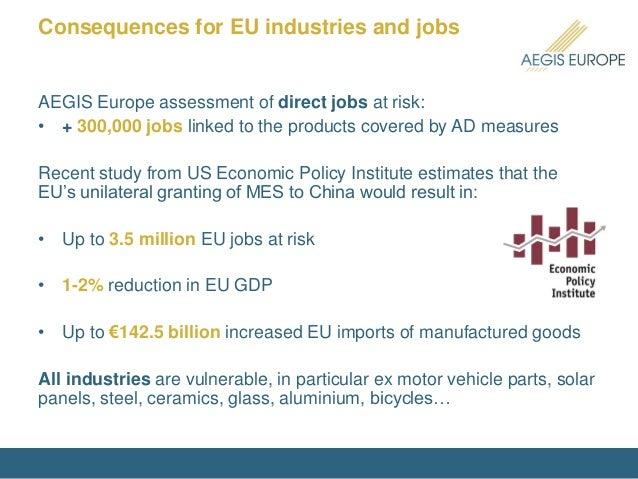 Market Economy Status For China Aegis Europe S Views