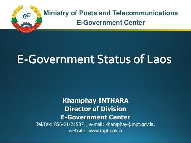 E Government Status Of Laos