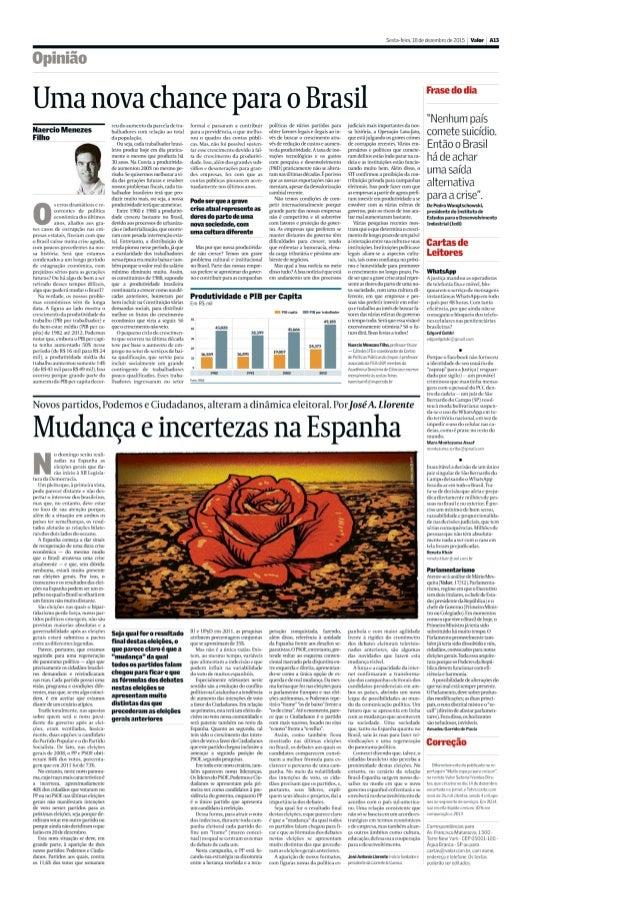 Mudança e incertezas na Espanha