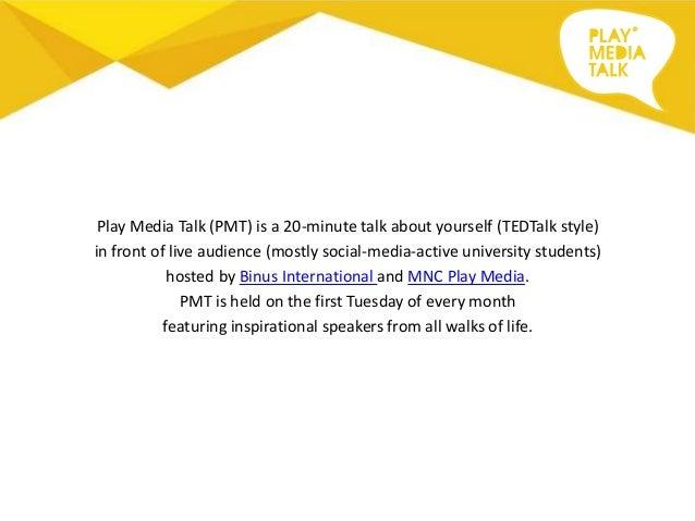 Play Media Talk - Invitation to Speak Slide 3