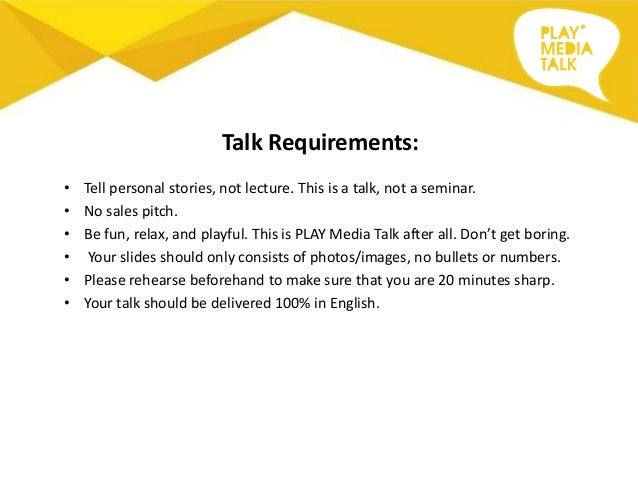Play Media Talk Invitation To Speak