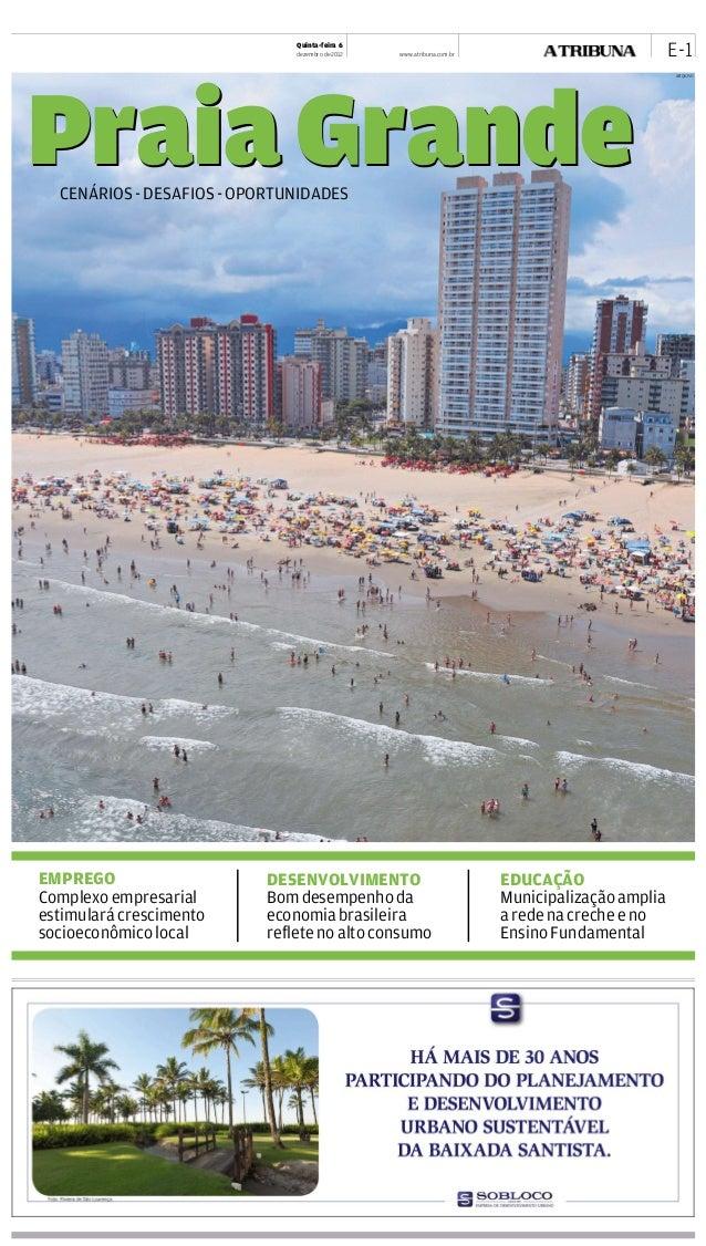 Caderno Especial - Jornal A Tribuna de Santos 06/12/2012