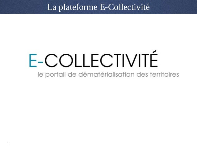 1 La plateforme E-Collectivité