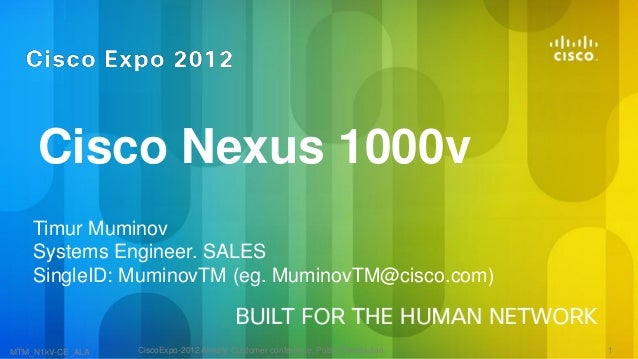 Cisco Nexus 1000v    Timur Muminov    Systems Engineer. SALES    SingleID: MuminovTM (eg. MuminovTM@cisco.com)MTM_N1kV-CE_...