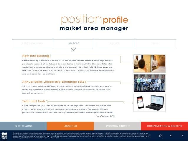 Credit Acceptance Market Area Manager