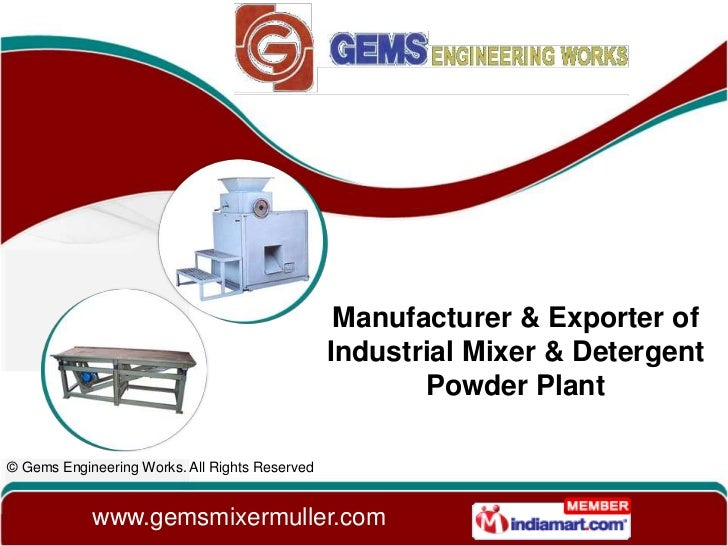 Manufacturer & Exporter of                                                Industrial Mixer & Detergent                    ...