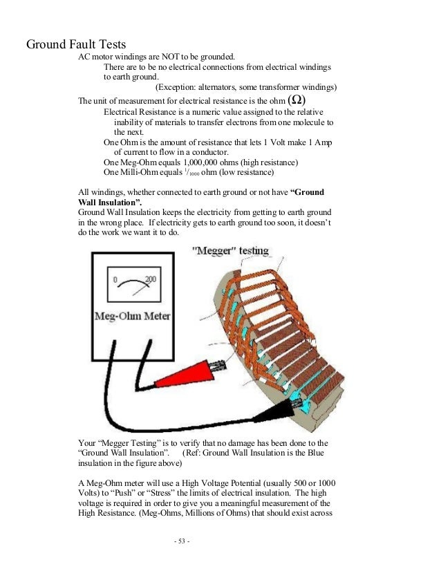 How to check the motor winding resistance for How to check ac motor