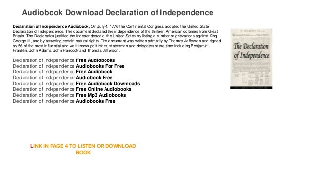 Audiobook Download Playstore Free Declaration of Independence