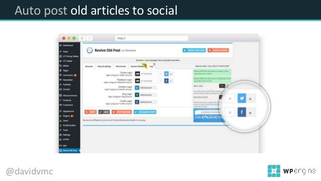Auto post old articles to social @davidvmc