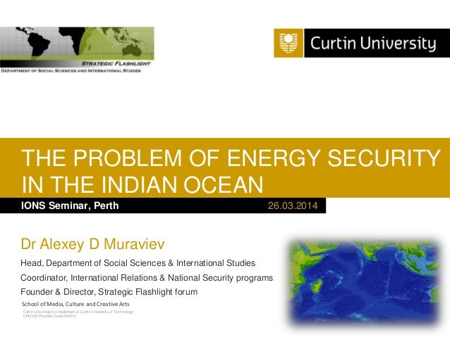 IONS Seminar 2014 - Session 2 - Energy Security