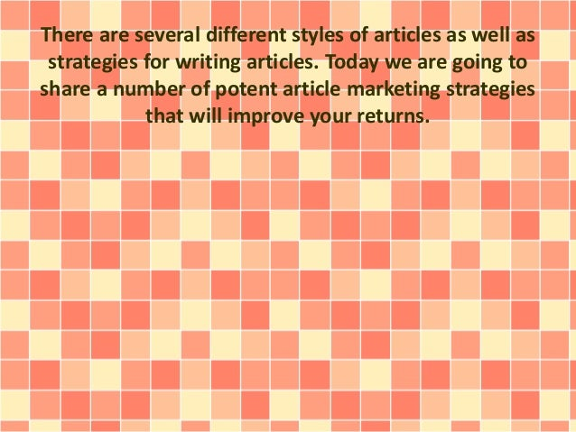 Effective Article Marketing Tactics Overlooked By Most People Slide 3