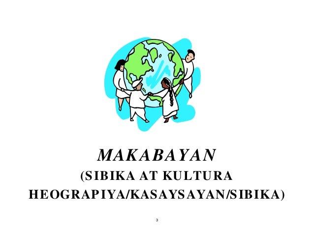 3 (SIBIKA AT KULTURA HEOGRAPIYA/KASAYSAYAN/SIBIKA) MAKABAYAN
