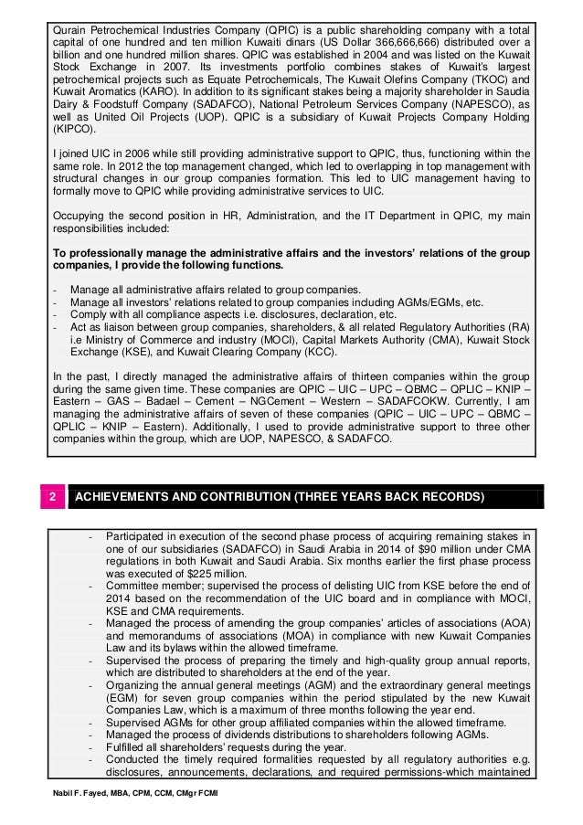 Nabil F  Fayed Business Profile V 2
