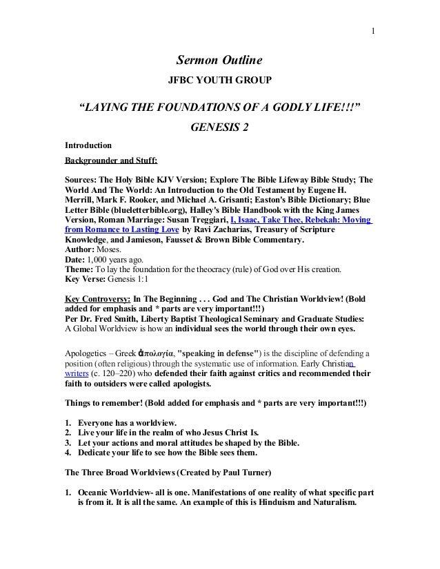 Sample Sermon Outline Template 197 Samples
