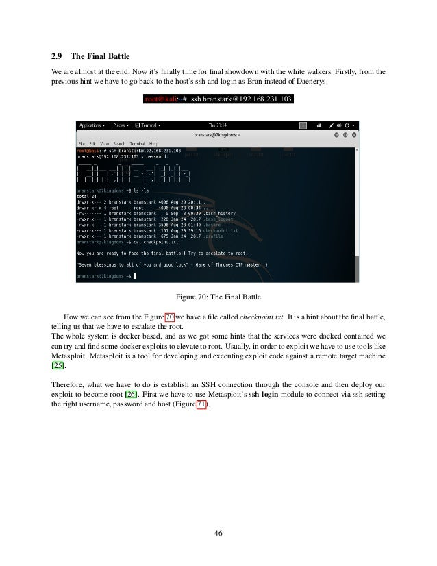 Penetration Testing Project Game of Thrones CTF: 1