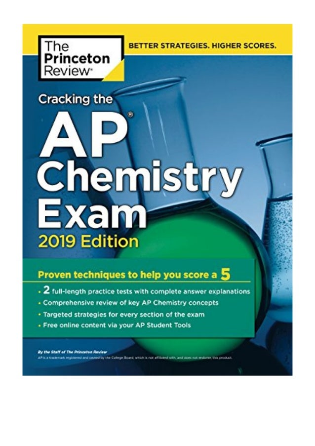 Cracking The Ap Chemistry Exam 2019 Edition Pdf Princeton Review P