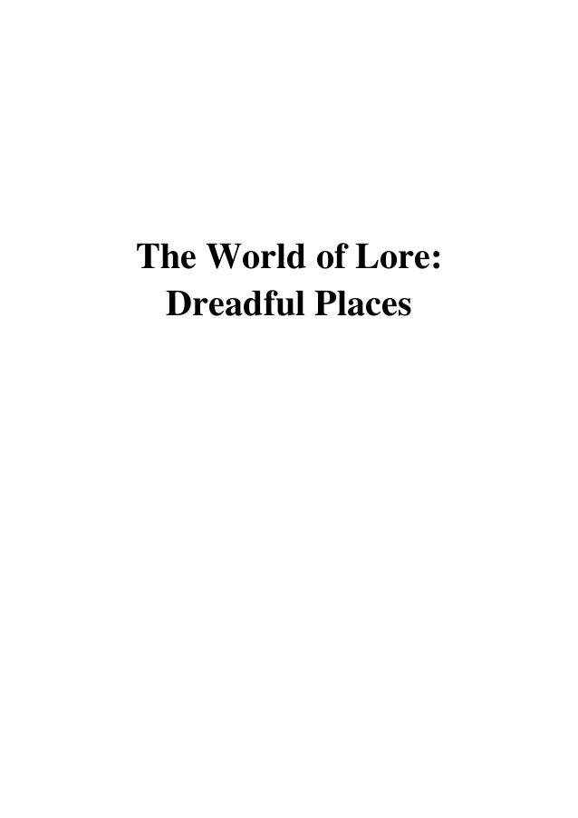 the world of lore dreadful places