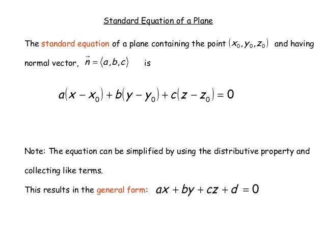 1525 Equations Of Lines In Space