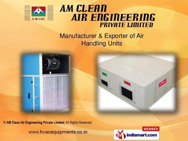 Manufacturer & Exporter of Air      Handling Units