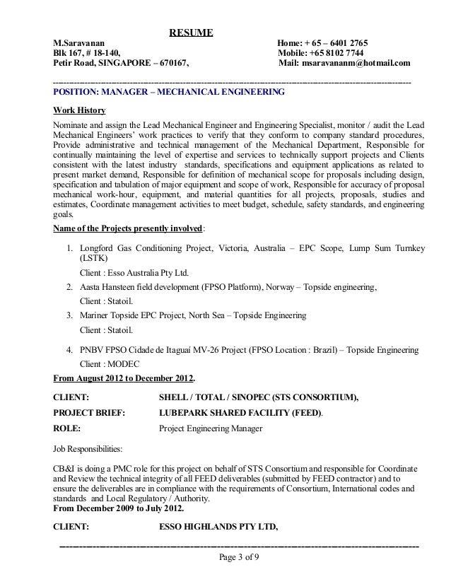 M Saravanan - Resume