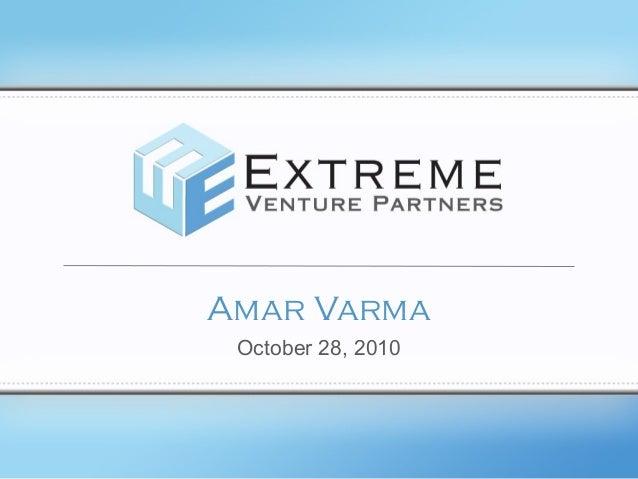 Amar Varma October 28, 2010