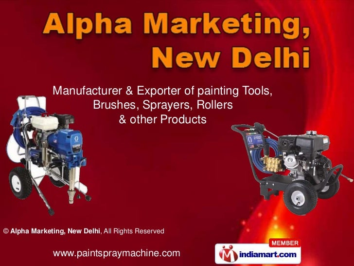 Manufacturer & Exporter of painting Tools,                     Brushes, Sprayers, Rollers                          & other...